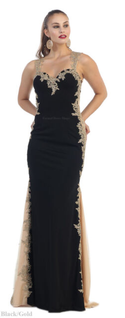 Long Fitted Evening Gown Special Occasion Formal Party Gala Dress