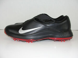 Nike TW 17 Tiger Woods Golf Shoes Spikes Black Red  200 880955-001 ... 922e24244