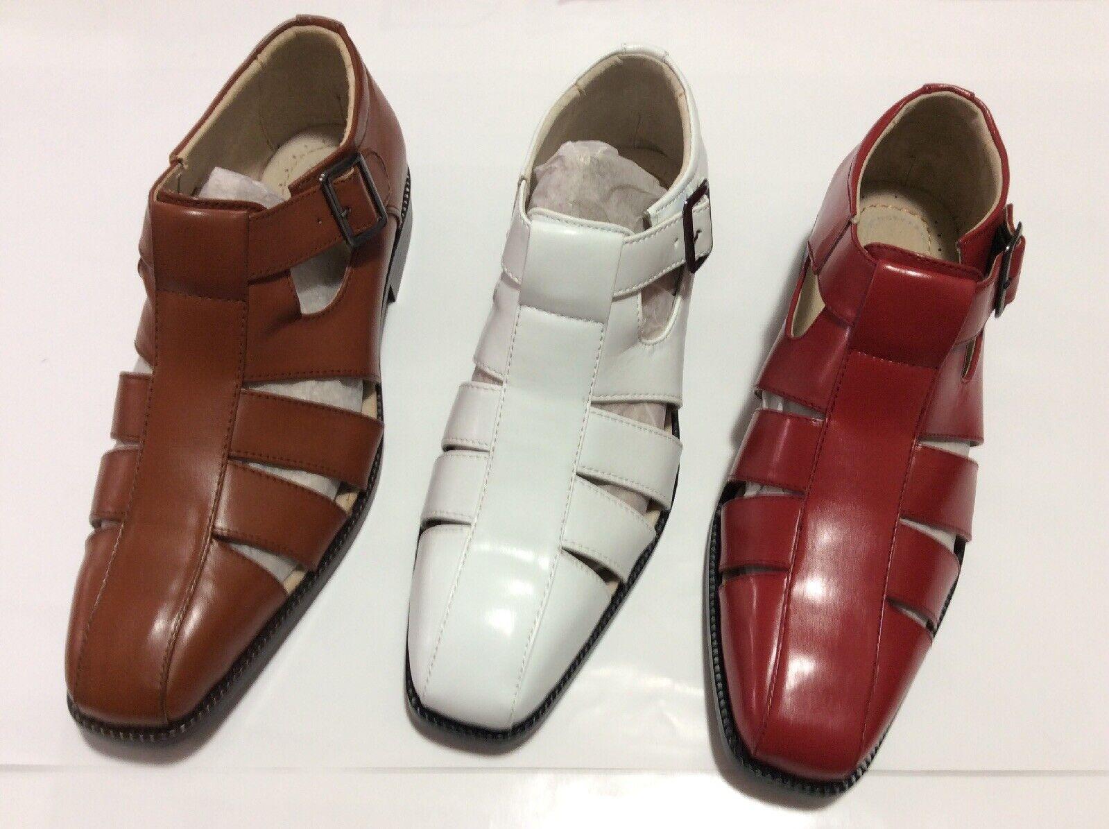 Stacy Adams HERREN Bekleidung   Freizeit Sandalen mit Riemen Calisto Rot, Weiß,