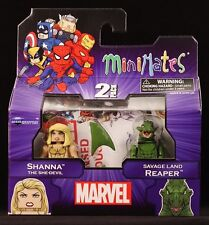 2013 MARVEL MINIMATES WAVE 51 SHANNA & SAVAGE LAND REAPER ACTION FIGURES MIP