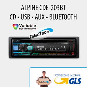 Autoradio-1-DIN-ALPINE-CDE-203BT-USB-BLUETOOTH-AUX-2-PRE-OUT