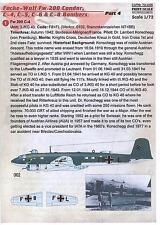 Print Scale Decals 1/72 FOCKE WULF Fw-200 CONDOR C-Series Bomber Part 4