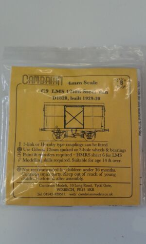 LMS 12ton All Steel van kit Cambrian C9 free post