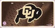 NCAA Aluminum License Plate University of Colorado Buffaloes NEW shaded back