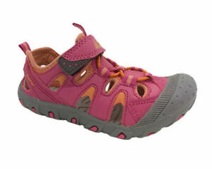 Boys Shoes Active Slide Covered Toe Grey /& Blue /& Orange Size 10-4 New Sandals