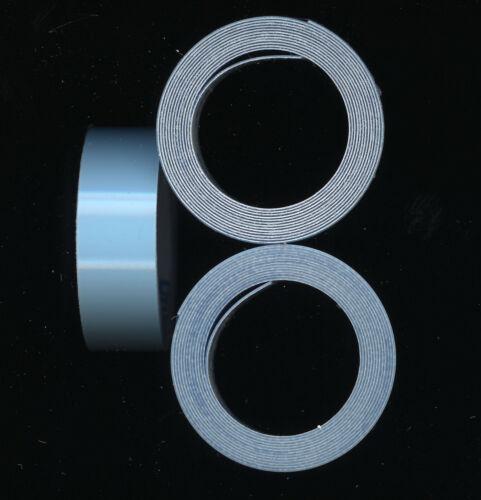 3x DYMO 9mm x 1m PRÄGEBAND 3d hell BLAU glanz BLUE GLOSSY etiketten label ...