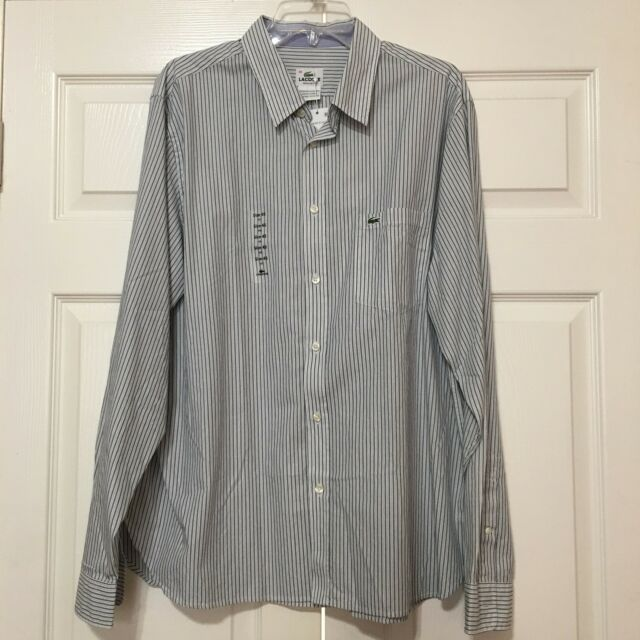 f58e973b0 Lacoste Pinstripes Mens Long Sleeve Shirt Size 45 (xxl) for sale ...