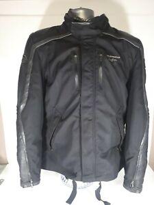 Spidi-Super-Leather-Motorcycle-Motorbike-Touring-Jacket-Black-Gray-size-XL