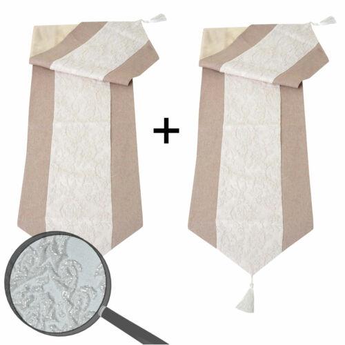2x Mitteldecke Glitzer Glanz-Effekt 180x33cm Tischdecke Tischdeko Tischläufer