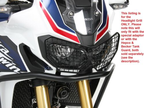 Honda CRF1000L Africa Twin Headlight Grill Black BY HEPCO AND BECKER From 2016