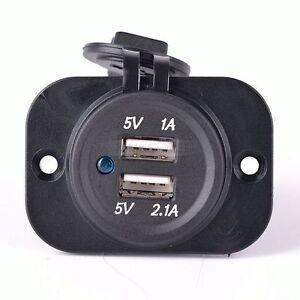 2-1A-12V-KFZ-Auto-Steckdose-Zigarettenanzuender-Ladegeraet-Dual-USB-Buchse