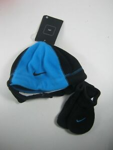 Nike Hat Beanie   Mittens Set Size For Boys Girls 12 24 Months Black ... a81a6b722a0