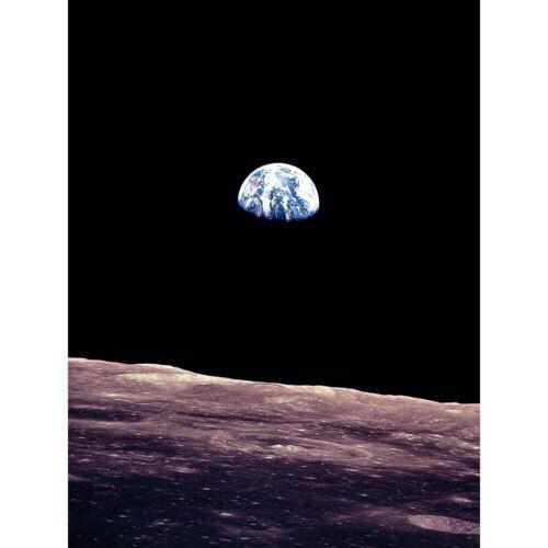 Space Photo Planet Earth Lunar Surface Moon Landscape Usa 12X16 Framed Print