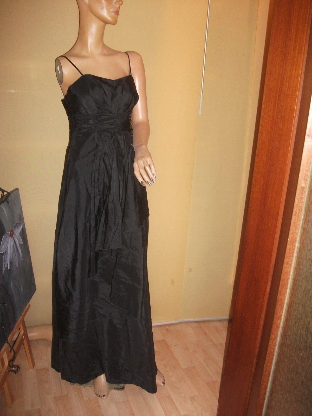 Wunderschönes schwarzes langes Kleid im Lagenlook Größe S Abendkleid Ballkleid