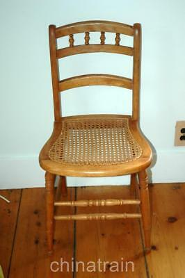 Antique Cane Seat Accent Side Wood Chair Ebay