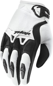 Thor-Mens-amp-Youth-White-Black-Spectrum-Dirt-Bike-Gloves-MX-ATV-MTB-BMX-2017