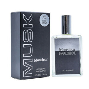 Monsieur-Musk-by-Dana-4-oz-Aftershave-for-Men-New-In-Box