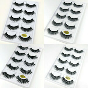 5Pair-3D-Mink-Hair-False-Eyelashes-Natural-Thick-Long-Wispy-Eye-Lashes-Extension
