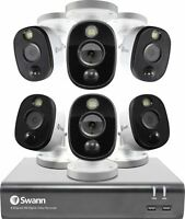 Swann 8-Channel, 6-Camera Indoor/Outdoor Wired 1080p 1TB DVR Surveillance System