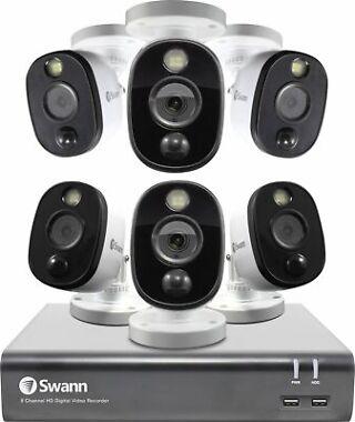 Swann 8-Ch. 6-Cam. Indoor/Outdoor 1080p 1TB DVR Surveillance System