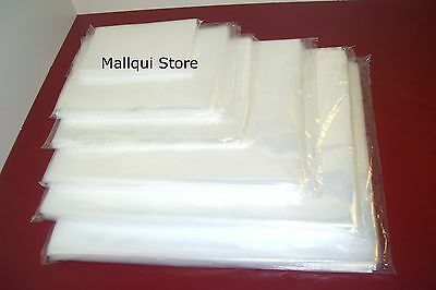 1,000 CLEAR 5 x 7 POLY BAGS 2 MIL PLASTIC FLAT OPEN TOP