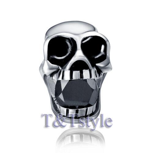 Quality T/&T 316L S.Steel Skull Stud Earring Single EZ07