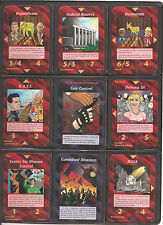 * ALL 100 UNCOMMON SET - UNLIMITED * Illuminati INWO Card Game * New World Order