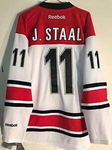new arrival 50f9d 4ea4c Details about Reebok Premier NHL Jersey Carolina Hurricanes Jordan Staal  White sz L