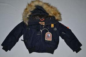 AUTHENTIC-PARAJUMPERS-GOBI-ECO-BOYS-HOODED-BOMBER-NAVY-SIZE-4-KIDS-BRAND-NEW