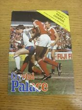 15/11/1980 Crystal Palace v Liverpool  (Creased corner). Bobfrankandelvis the se