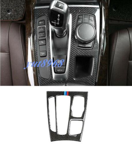 Real Carbon Fiber Inner Gear Shift Box Panel Trim For BMW X5 F15 X6 F16 2015-18