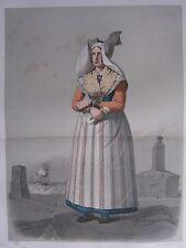 1872 PRINT SWEDISH PEASANT COSTUME WOMEN OF DISTRICT SKYTT Skanska Folkdragter