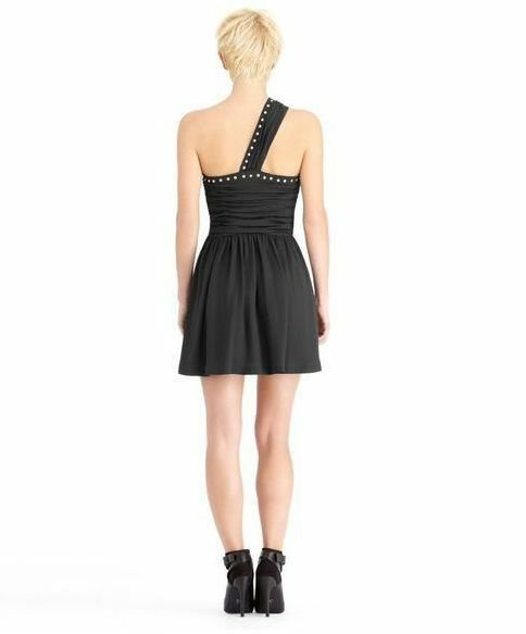 RACHEL Rachel Roy Dress One-Shoulder Studded A-Line Sz 0  New
