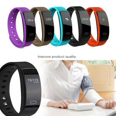 QS80 Fitness Smart Watch Blood Pressure/Heart Rate Monitor  Bracelet Wrist Band