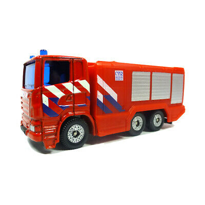 "Modellauto NEU ° Siku 1014 Scania Feuerwehrdrehleiter /""Brandweer/"" rot Blister"
