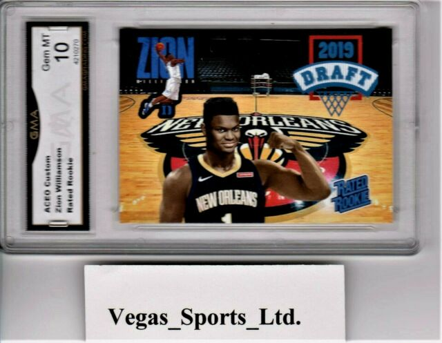 ZION WILLIAMSON NEW ORLEANS PELICANS ROOKIE CARD GMA ...