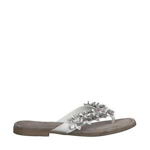 best website 849de 9f076 Details zu Marco Tozzi Premio 2-2-27111-22 197 Schuhe Damen Pantolette  Zehentrenner weiß
