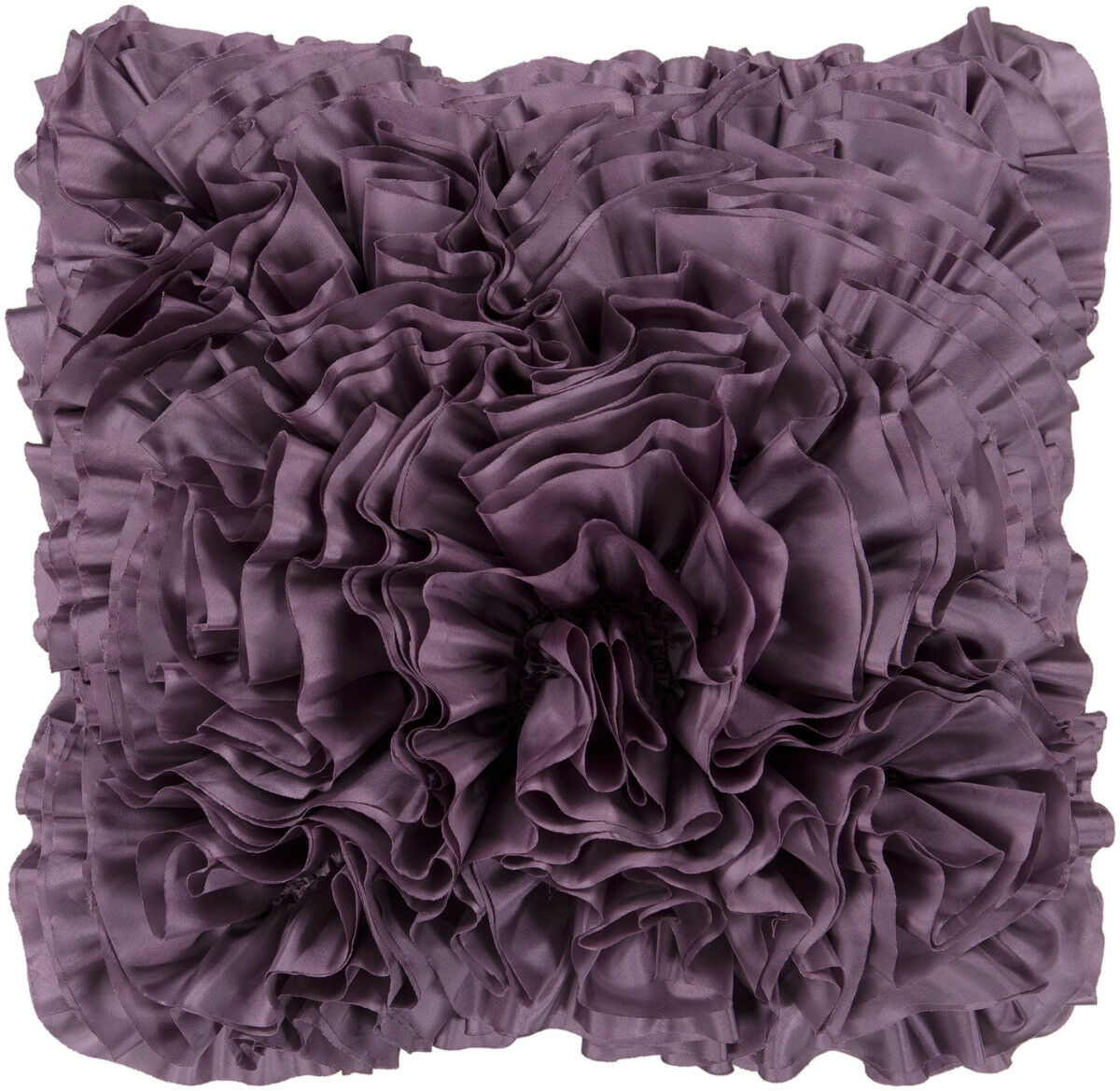 Surya Purples Ruffles Frills Textured Romantic Area Rug Solid BB035