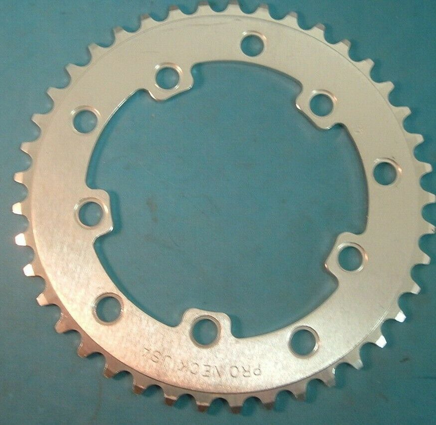 Pro Neck USA 41T BMX NEW   NOS Vintage Chainring- 110BCD   130BCD-3 32  Silber-