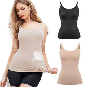 Womens Layering Cotton Solid Plain Camisole Tank Top Basic Spaghetti Strap S M L