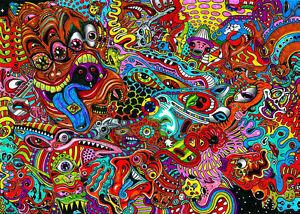 psychedelic trippy art fabric poster 20 x13 decor 09 ebay