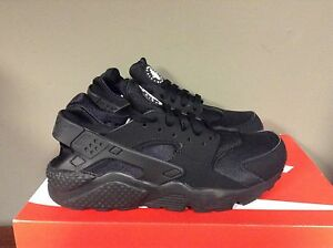 Nike MEN'S AIR HUARACHE RUN 318429 003 TRIPLE BLACK NEW 2018