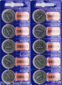 10 New SONY CR2025  CR 2025 Lithium 3v Coin Battery AUSSIE Stock Fast Shipping 6911334275450
