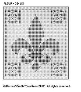 Details About Fleur De Lis Filet Crochet Pattern