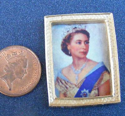 1:12 Scala Con Cornice Foto (stampa) Of Queen Elizabeth Prezzo Di Vendita
