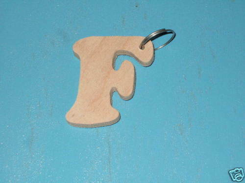 Wooden Key Ring /'F/'