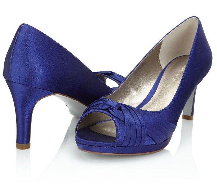 Jacques green Twist Trim bluee Peep Toe Sandal Heels Size EU 38