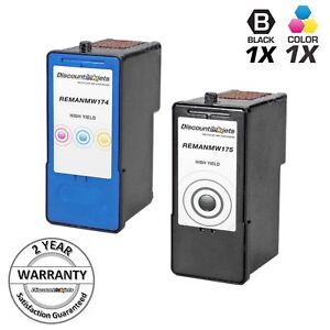 2p-MW175-MW174-BLACK-COLOR-Ink-Cartridge-for-Dell-Printer-Series-9-MK990-MK991