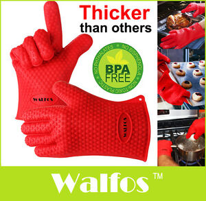 Image Is Loading 1 2pc Silicone Kitchen Glove Heat Resistant Oven