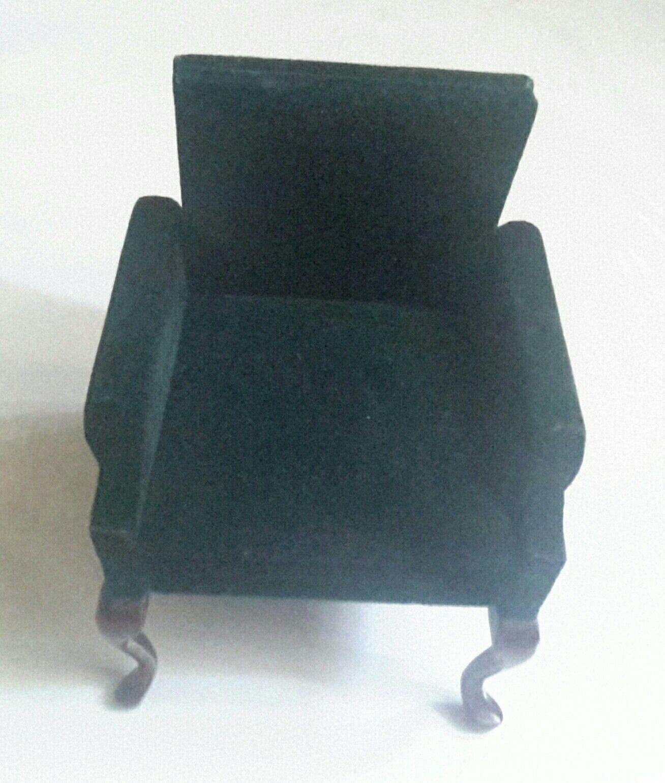 garantizado Nuevo Vintage Muñecas Muñecas Muñecas en Miniatura Club silla de terciopelo verde oscuro por fantástico  Envio gratis en todas las ordenes